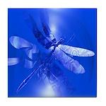 Blue Dragonfly Tile Coaster