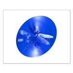 Blue Dragonfly Small Poster