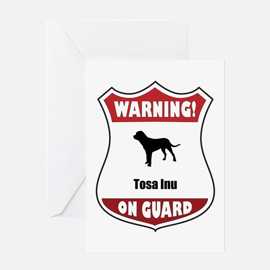 Tosa On Guard Greeting Card