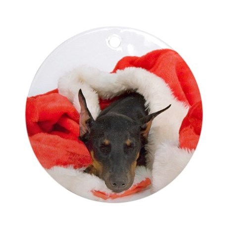 Doberman Pinscher Round Ornament