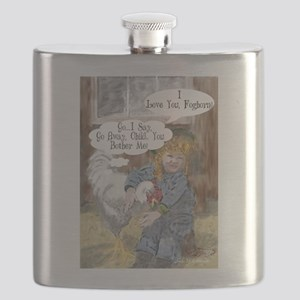 Foghorn and Girl Flask
