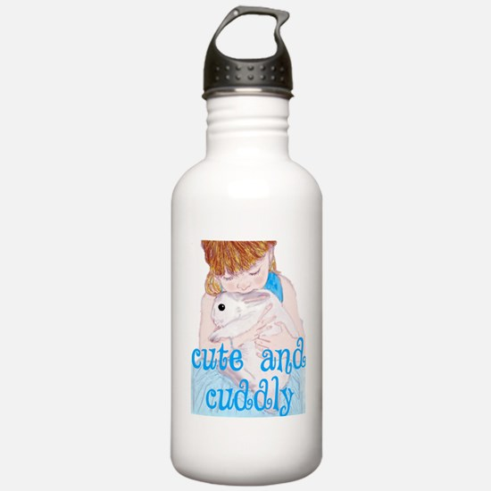 Cute and Cuddly cutout Water Bottle