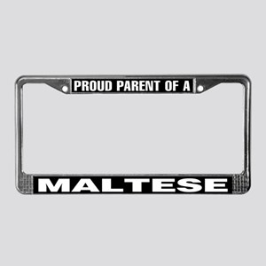 Proud Parent of a Maltese License Plate Frame