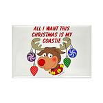 Christmas I want my Coastie Rectangle Magnet (100