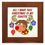 Christmas I want my Coastie Framed Tile