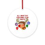 Christmas I want my Coastie Ornament (Round)