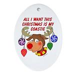 Christmas I want my Coastie Oval Ornament