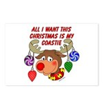 Christmas I want my Coastie Postcards (Package of