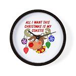 Christmas I want my Coastie Wall Clock