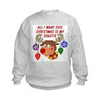 Christmas I want my Coastie Kids Sweatshirt