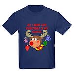 Christmas I want my Coastie Kids Dark T-Shirt