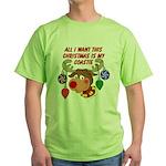 Christmas I want my Coastie Green T-Shirt