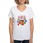 Christmas I want my Coastie Women's V-Neck T-Shirt