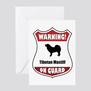 Mastiff On Guard Greeting Card