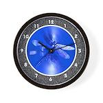 Blue Dragonfly Wall Clock