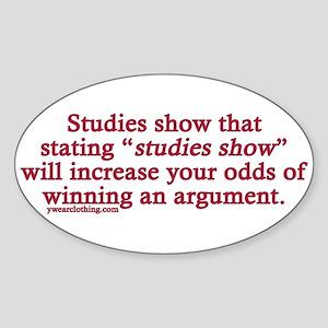 Studies Show Oval Sticker