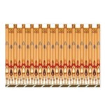 Deco Pipe Pattern Postcards (package Of 8)