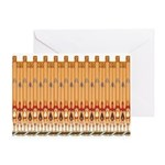 Deco Pipe Pattern Card (blank) Greeting Cards