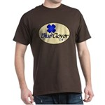 Blue Clover Tv Logo On Cream Oval - Dark T-Shirt