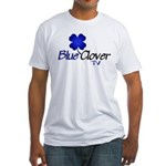 Blue Clover Tv Logo - Fitted T-Shirt