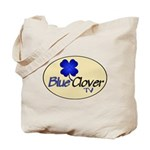 Blue Clover Tv Logo-Oval / Hollow Icon - Tote Bag