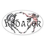 Floater Angel / Devil Sticker (oval)