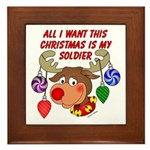 Christmas I want my Soldier Framed Tile