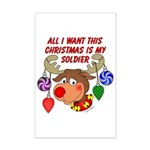 Christmas I want my Soldier Mini Poster Print