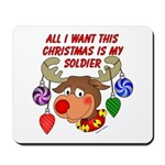 Christmas I want my Soldier Mousepad