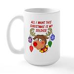 Christmas I want my Soldier Large Mug