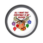 Christmas I want my Soldier Wall Clock