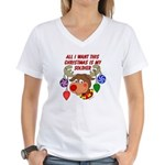 Christmas I want my Soldier Women's V-Neck T-Shirt