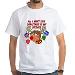 Christmas I want my Soldier White T-Shirt