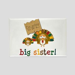 little turkey sister Rectangle Magnet