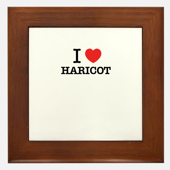 I Love HARICOT Framed Tile