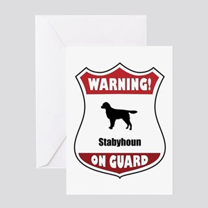 Staby On Guard Greeting Card