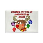 Christmas without my Soldier Rectangle Magnet (10