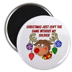 Christmas without my Soldier Magnet