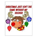 Christmas without my Soldier Small Poster