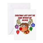 Christmas without my Soldier Greeting Cards (Pk of