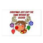 Christmas without my Soldier Postcards (Package of
