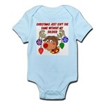 Christmas without my Soldier Infant Bodysuit