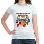 Christmas without my Soldier Jr. Ringer T-Shirt