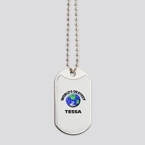 World's Okayest Tessa Dog Tags