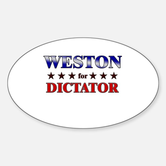 WESTON for dictator Oval Decal