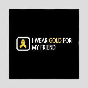 Childhood Cancer: Gold For My Friend Queen Duvet