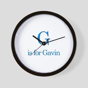 G is for Gavin Wall Clock