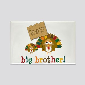 little turkey brother Rectangle Magnet