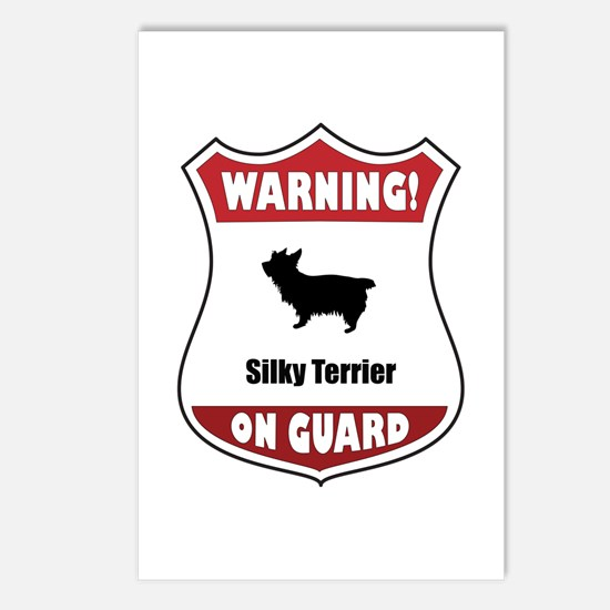 Silky On Guard Postcards (Package of 8)