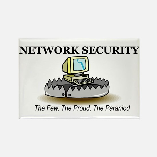 Network Security Rectangle Magnet